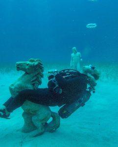 Amazing Underwater Statues